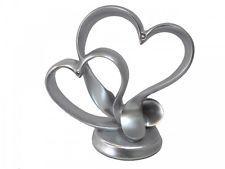 Tortendeko Herz Silber Tortenaufsatz Silberhochzeit Tischdeko Hochzeit