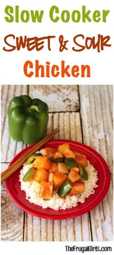 Easy Slow Cooker Sweet and Sour Chicken