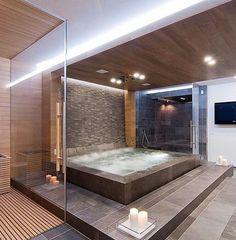 Breathtaking indoor jacuzzi