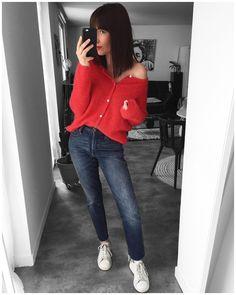 "643 Likes, 11 Comments - A U D R E Y (@audressing) on Instagram: ""#ootd Gilet ""Lena"" #sezane Jean #501skinny #levis Baskets ""Betty"" #isabelmarant"""