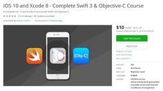 Coupon Udemy - iOS 10 and Xcode 8 - Complete Swift 3 & Objective-C Course…