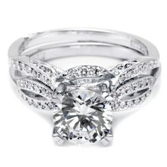Tacori Crescent Wedding Band 72 Elegant Art deco engagement rings