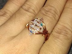 handmade jewelry tutorials - Wire Jewelry Lessons - DIY - How to make sparkling crystal ring - YouTube