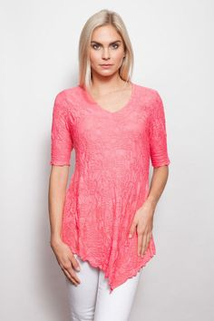 04859d1b0 Sno Skins: Coral Dream Catcher V Neck Blouse #SnoSkins #Blouse #Any Dream