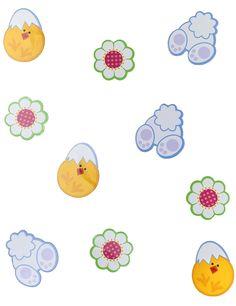 24 decorazioni in cartone di Pasqua-1