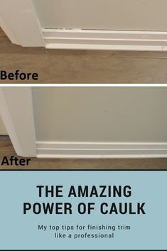 The amazing power of caulk! Tips for installing and finishing trim diy home improvement How to caulk trim: the amazing power of caulk
