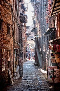 alleyways in Bhaktapur, Nepal