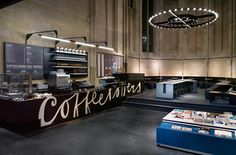 Coffee bar & book shop inside a Church by Merkx Girod