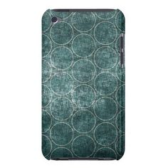 Dark Green Vintage Pattern Barely There Ipod Cover