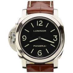 Panerai Stainless Steel Luminor Base Left-Handed Wristwatch PAM 219 | From a unique collection of vintage wrist watches at http://www.1stdibs.com/jewelry/watches/wrist-watches/