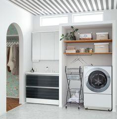 イメージ写真から探す|洗面ドレッシング | Panasonic Bathroom Toilets, Washroom, Laudry Room Ideas, Dream Home Design, House Design, Drying Room, Laundry Room Design, New House Plans, New Homes