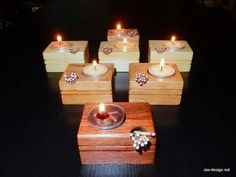 How to Make a Candle and Match Holder - Only requires a saw and drill! Great simple gift idea