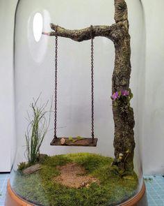 37 DIY Miniature Fairy Garden Ideas To Bring Magic To Your Home # . - 37 DIY miniature fairy garden ideas to bring magic into your home - Fairy Garden Plants, Fairy Garden Furniture, Mini Fairy Garden, Fairy Garden Houses, Gnome Garden, Fairy Gardening, Garden Gazebo, Diy Fairy House, Garden Cloche