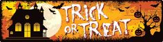Our Trick or Treat bumper magnet is 15% off this month!