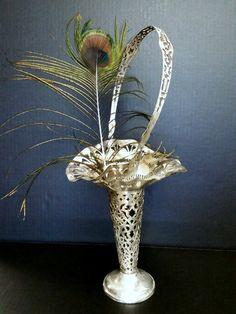 Antique Silver Plate Brides Basket Pierced by DecadesEmporium