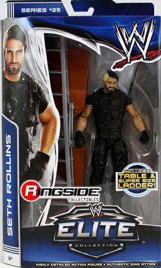 the shield wrestling figures | ... ROLLINS (THE SHIELD) - WWE ELITE 25 MATTEL TOY WRESTLING ACTION FIGURE