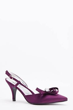Womens Ladies Purple Satin Diamante Bow High Heel Court Shoes Size UK 4 New  Click On Link To Visit My Ebay Shop http://stores.ebay.co.uk/all-about-feet  Useful Info: - Standard Size - Standard Fit - By Farfalla London  - Aubergine In Colour - Heel Height: 3.5 Inches - Buckle To Side Fastening - Satin Upper #shoes #purpleshoes #purple #highheel #highheels #diamante #fashion #footwear #forsale #womens #ladies #ebay #ebayshop #ebaystore #bow