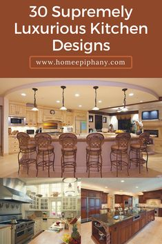 5 Popular Kitchen Designs That Will Inspire You Home Design, Luxury Kitchen Design, Luxury Kitchens, Interior Design Kitchen, Cool Kitchens, Design Ideas, Kitchen Designs Photos, Best Kitchen Designs, Diy Kitchen Furniture