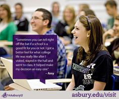 Visiting campus is one of the best ways to discover if Asbury is the right university for you! #AsburyU