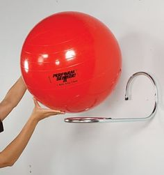 loop wall rack for single exercise ball great site for organization ideas with exercise equipment:
