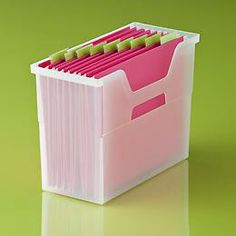 The Container Store  Open-Top File Boxes