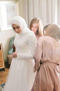 Discount A Line Lace Applique Muslim Long Sleeves Full Back Wedding Dress With …. Discount A Line Lace Applique Muslim Long Sleeves Full Back Wedding Dress With … Hijabi Wedding, Wedding Hijab Styles, Muslimah Wedding Dress, Muslim Wedding Dresses, Muslim Brides, Bridal Dresses, Wedding Gowns, Lace Wedding, Wedding Cakes