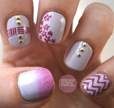 One Nail To Rule Them All: Pink Mix 'n' Match