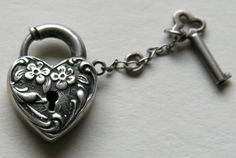 ~ Heart Locket and Key ~ Key To My Heart, Love Heart, Happy Heart, Ash Image, Lock Tattoo, Under Lock And Key, Key Lock, Key Tattoos, Heart Tattoos