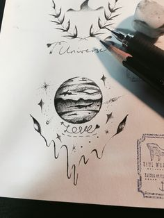 57d95b066 Planet with Laurels Tattoo Design, Tattoo Idea 🙏🏻 From Blue Whale Ink  Design by