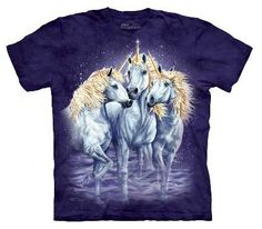 £21.99 Unicorn T-Shirt by The Mountain. Can you find 10 Unicorns hidden within this t-shirt. The Mountain have made some of their t-shirts more exciting by printing hidden images onto them.
