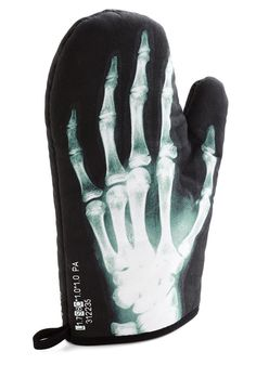 Xray Curiosity Skeleton Oven Mitt - Modcloth #kitchen #goth #medical