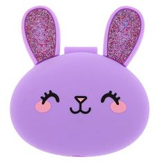 Claire's Bella the Bunny Compact Mirror - Purple Barbie Pegasus, Barbie Camper, Diy Gift For Bff, Unicorn Pictures, Wolf Spirit Animal, Doll Clothes Barbie, Cute Wallets, Cute School Supplies, Kids Outfits Girls
