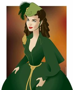 Vivien Leigh as Scarlett O'Hara wears the iconic curtain dress to try to save Tara in GWTW. Vivien Leigh in Gone with the wind Scarlett O'hara, Vivien Leigh, Cinema Tv, Tomorrow Is Another Day, Celebrity Caricatures, Actrices Hollywood, Gone With The Wind, Film Serie, Green Velvet