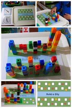 STEM ~ Building a city ~ Unifix Cubes Print & Play Counting Game Mats « United Teaching Math Classroom, Kindergarten Math, Classroom Activities, Teaching Math, Space Activities, Teaching Skills, Fun Math, Math Games, Counting Games