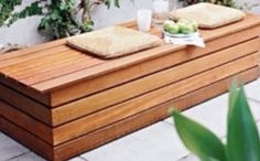 52 Outdoor Bench Plans: the MEGA GUIDE to Free Garden Bench Plans. Diy Bench Seat, Storage Bench Seating, Bench With Storage, Diy Storage, Patio Storage, Shoe Bench, Pallet Bench, Seat Storage, Patio Bench