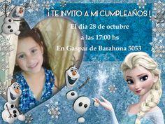 Invitación cumpleaños Frozen