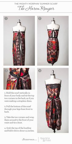 9 Ways to Transform Your Scarf | They Harem Romper