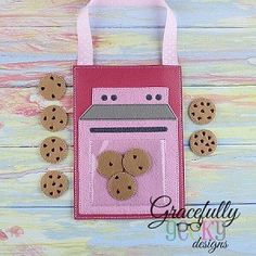 Baking Set Busy Bag Embroidery Design - 5x7 Hoop or Larger