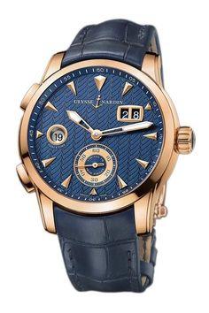 Ulysse Nardin 18k Rose Gold Limited Edition Dual Time Manufacture 42mm Blue Dial