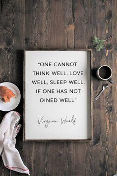 Virginia Woolfe Wood Sign