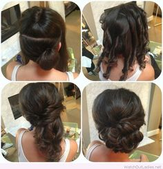 Awesome side updo tutorial for weddings – Watch out Ladies