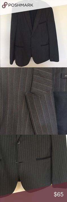 John Varvatos slim fit cotton sport coat John Varvatos slim fit cotton sport coat in lead gray with subtle pale brown and light pin accent stripe. This versatile jacket can be dressed up or made to look more casual. Like new excellent condition John Varvatos Suits & Blazers Sport Coats & Blazers