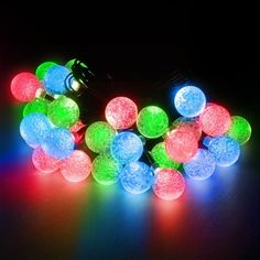 LED Concepts 30 Solar Led Crystal Ball Style String Lights - #ad 19.7' - 2 Mode Setting