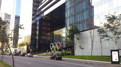 Onde a tocha olímpica vai estacionar, em São Paulo.