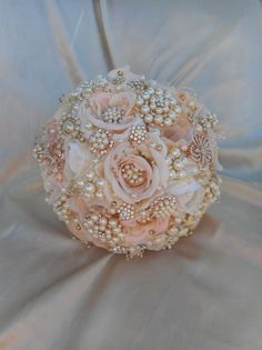 Beautiful Rose Gold Wedding Bouquet (35)