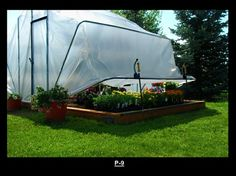 Convertible Greenhouse ~ Great to Have Close to the House in Cooler Weather!!!