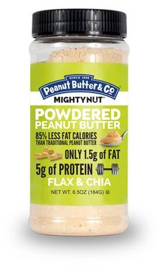 MIGHTY NUT Powdered Peanut Butter – Flax & Chia