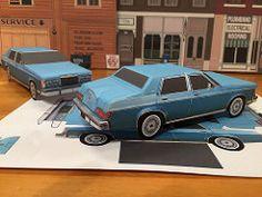 Papercraft Lincoln Versailles sedan
