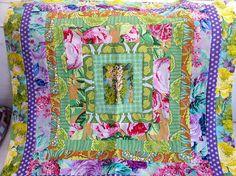 Quilt wip by elsy965, via Flickr  Lovely kaffe fassett fabrics