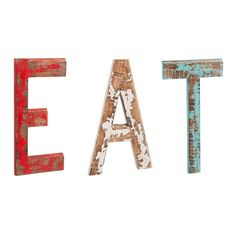 Cape Craftsmen Distressed EAT Letters Wooden Wall Decor #CoolStuff #BestPrice: $62.95 Grab NOW! @bestbuy9432